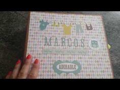 Album de Fotos de Bebe Unisex, Proyecto Scrapbook - YouTube
