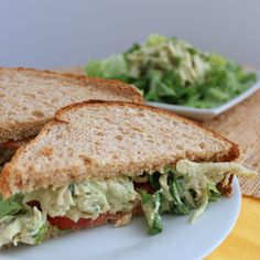 Avocado Chicken Salad from Living Well Kitchen--no mayo--low fat and high protein