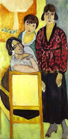 Matisse, Henri - Three Sisters (Triptych - Right part) - Fauvism - Portrait - Oil on canvas