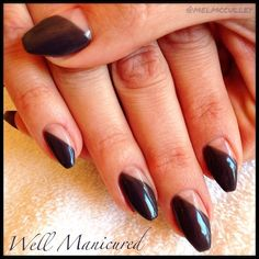 #wellmanicured #nails #nailart Gel colors: #JetSet #gelish