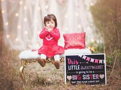 Valentine's Day Sibling pregnancy announcement
