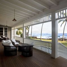 Dream Porch Design, Pictures, Remodel, Decor and Ideas Interior Exterior, Home Interior, Interior Design, Outdoor Spaces, Outdoor Living, Hawaiian Homes, Hawaiian Home Decor, British Colonial Style, Colonial Style House