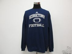 Adidas Georgetown Hoyas Football Crewneck Sweatshirt sz XL Extra Large NCAA  #Adidas #GeorgetownHoyas