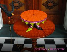 Patience Brewster Witch Shoe Cake Plate makes a dazzling centerpiece for Halloween.