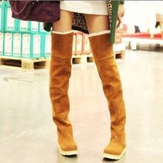 Over Knee Lace Up Plush Warm Winter Boots Item Type:Boots Shoe Width:Medium(B,M) Process:Adhesive Season:Winter Platform Height:0-3cm With Platforms:Yes Closure Type:Slip-On Boot Height:Over-the-Knee