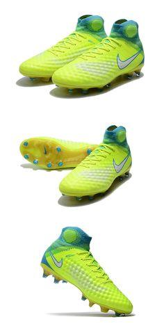 best sneakers b9ca1 ced3f Volt Nike Magista Obra II Col Dynamic Fit reliant le bas de la jambe au pied