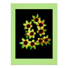 Green Flowers 24 X Value Poster Paper