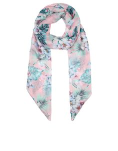 Aloha Silk Classic Scarf | Pink | Accessorize