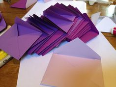 Classic DIY Bride - how to make adorable envelopes for a creative guestbook www.classicdiybride.blogspot.com