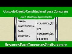 Aula 2 - Classificação das Constituições - http://resumosparaconcursosgratis.com.br/direito-constitucional-para-concurso/aula-2-classificacao-das-constituicoes/