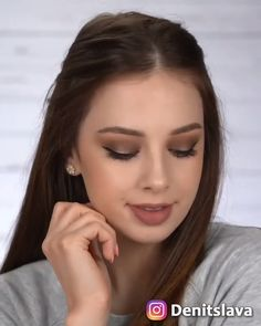 I filmed this video before getting my bangs 😁😁. and brown smokey eye is never a bad idea 😉💖 I filmed this video before getting my bangs 😁😁. and brown smokey eye is never a bad idea 😉💖. Makeup tutorial by Denitslava<br> Makeup Looks Tutorial, Makeup Eye Looks, Simple Makeup Looks, Eye Makeup Tips, Eyebrow Makeup, Denitslava Makeup, Glitter Makeup, Hair And Makeup, Brown Makeup Looks