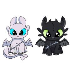PNG Toothless & Light fury, How to train your dragon characters, + Coloring dragons(line art). Toothless and light fury How to train your dragon DIGITAL clipart Coloring dragons(line art). Toothless Drawing, Baby Toothless, Disney Drawings, Cartoon Drawings, Animal Drawings, Dragon Line, Baby Disney Characters, Cartoon Characters, Cartoon Dragon