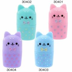 Cat neko kawaii toothbrush travel containers