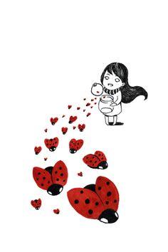 Ladybird Ink Illustration