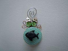 Gattino Pesce Spilla.ciondolo di Foresta Mentale Chiaresca su DaWanda.com