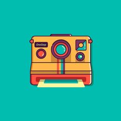 Wallpaper Space, Cat Wallpaper, Logo Ig, Vintage App, Insta Icon, Toy Camera, Vintage Polaroid, Flat Illustration, Aesthetic Backgrounds