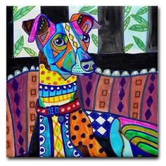 dog coasters  GREYHOUND GIFTS  Ceramic Tile by HeatherGallerArt, $20.00