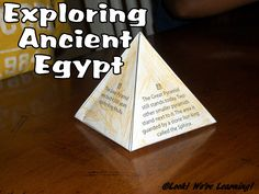 Crafts, historical artifacts, and facts about ancient Egypt for kids