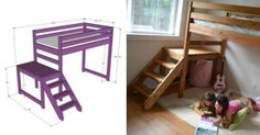 How to make DIY camp loft bed step by step tutorial instructions