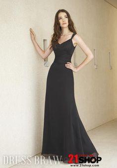 A-Line Floor-Length Sweetheart Bridesmaid Dress. In Peach