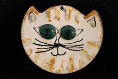 Enamel  Cat Necklace by LindaGissen on Etsy