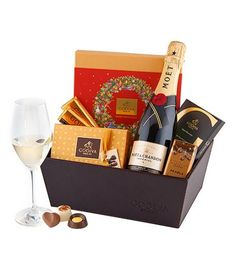 Christmas Joy with Godiva & Champagne This Large Leather Christmas Hamper Full O. Christmas Joy with Godiva & Champagne This Large Leather Christmas Hamper Full Of Godiva Chocolate- Send Gift Basket, Food Gift Baskets, Themed Gift Baskets, Birthday Gift Baskets, Gift Boxes For Women, Gift Baskets For Women, Chocolates, Luxury Christmas Gifts, Chocolate Hampers
