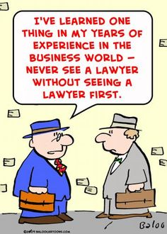 see a lawyer before seeing a lawyer