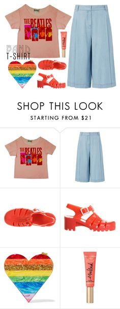 """The Beatles"" by stavrolga ❤ liked on Polyvore featuring Junk Food Clothing, Diane Von Furstenberg, JuJu, Edie Parker, bandtshirt, polyvoreeditorial, bandtee and culottes"