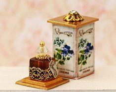 Miniature perfume 1/12 , Dollhouse Miniature, miniature furniture, Diorama, miniature accessories