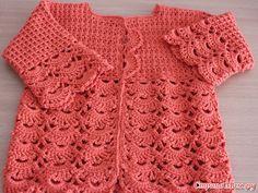 ergahandmade: Crochet Baby Cardigan + Diagrams + Pattern Step By. Crochet Baby Cardigan Free Pattern, Free Crochet Doily Patterns, Gilet Crochet, Crochet Cap, Baby Blanket Crochet, Baby Patterns, Baby Pullover, Crochet Baby Clothes, Baby Sweaters
