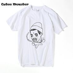 The Creator Earl Drawing T-shirt Men 2017 New Fashion Odd Future Ofwgkta T-shirt  Hip Hop T Shirt Clothing 3XL