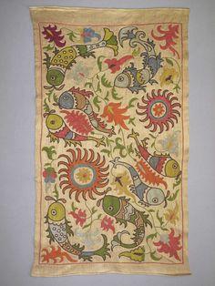SALE Uzbek silk handmade embroidery small by SunSilkFlowers