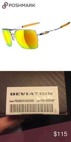 NWT! Oakley Deviation Sunglasses Never worn. New in box. Lenses are chrome and frames are fire iridium (orange). Non-polarized. Oakley Accessories Glasses
