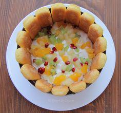 Reteta Tort Diplomat - DesertdeCasa.ro - Maria Popa Sweet Tarts, Fruit Salad, Macarons, Food And Drink, Cooking, Desserts, Recipes, Kaftan, Diy