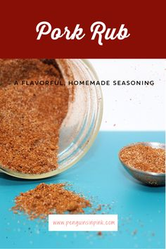 A flavorful, homemade version of pork rub seasoning. It is a mix of cumin, chili, and a few other common household spices. Pork Rub Seasoning, Seasoning Mixes, Healthy Sauces, Homemade Seasonings, My Recipes, Penguins, Chili, Household, Easy Meals