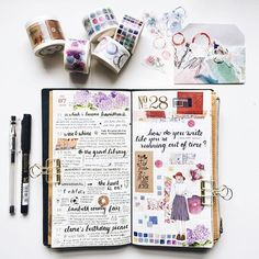 Week 28 in my Traveler's Notebook, featuring some of the new Color tapes from…