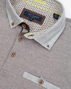 Designer Men's Tops & T-Shirts Polo Shirt Design, Polo Design, Men Design, Mens Designer Tops, Designer Clothes For Men, Ted Baker, Mens Knitted Cardigan, Mens Polo T Shirts, African Shirts