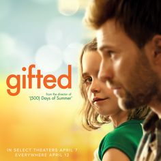From the director of 500 Days of Summer, Gifted starring Chris Evans, Mckenna Grace, Jenny Slate, Lindsay Duncan and Octavia Spencer opens in theaters April 7, everywhere April 12.