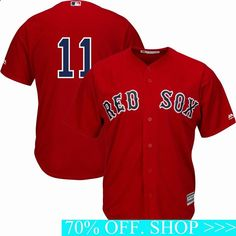 MLB Jerseys Men - Majestic Dustin Pedroia Scarlet Boston Red Sox Alternate Official Cool Base Replica Player Jersey: Material: Polyester, Heat-sealed name and number on back of jersey. Mlb, Lea Michele, Boston Red Sox, Andrew Benintendi, Dustin Pedroia, Gym Club, Football Gear, Baseball Teams, Basketball