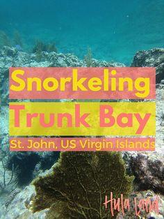 Snorkeling at Trunk Bay, St John USVI - Hulaland