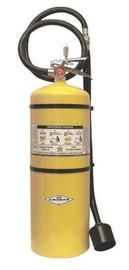Amerex® 30 Pound Stored Pressure Sodium Chloride Dry Powder Fire Extinguisher For Class D Fires With Chrome Plated Brass Valve, Wall Bracket, Hose, Horn And Wand Applicator