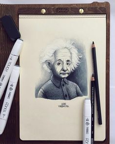 """Albert Einstein portret by @lera_kiryakova.   Another piece of art in the wooden art book from the """"Flexible wood"""" collection."""