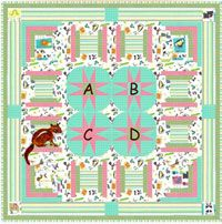 C is for Chipmunk Baby Quilt Pattern. Could there possibly be a sweeter way to start learning the ABC's than with Chipmunk! His easy applique shapes are fused for quick work. http://www.kayewood.com/item/C_is_for_Chipmunk_Baby_Quilt/2921 $10.00