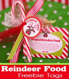 Free printable and reindeer food recipe