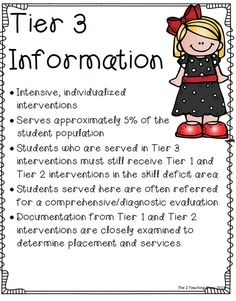 UPDATED!!!! In this pack you will find everything you need to help you get started with RTI.  New items that have been added: Tier cover pages for your assessment notebook (1 for each tier), quick guide reference for each tier, strategic planning pages for reading, writing, and math, and 2 additional forms for documentation.There are several additional forms too!  You need this to help wade through the RTI Process!  $