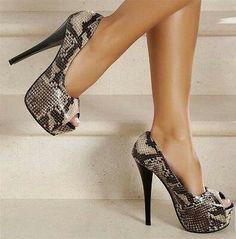 Snake Skin High Heels <3