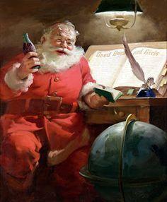 Santa, 1951  DECK THE HOLIDAY'S: YES VIRGINIA, COCA-COLA CREATED SANTA CLAUS!!!