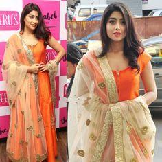 Shriya Saran in Neeru's Floor Length Anarkali Suit