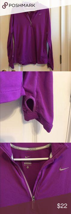 Nike quarter zip pullover Medium Nike purple quarter zip pullover Nike Other