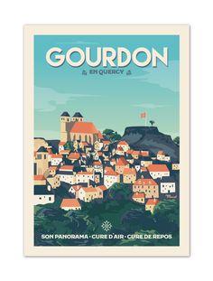 €25 . Affiche illustration originale GOURDON . Papier 350g/m² Couché Mat